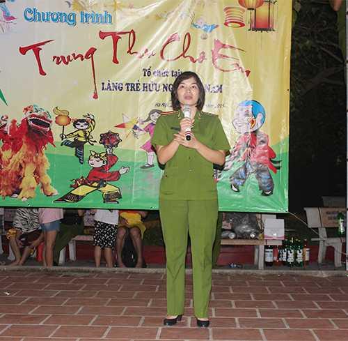 TS Ngô Thái Lan (Phó trưởng khoa Cảnh sát môi trường) phát biểu tại chương trình.