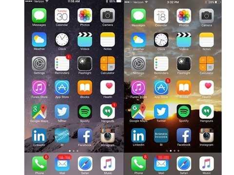 Nhìn qua thì giao diện iOS 9 không khác nhiều so với iOS 8. Màu sắc vẫn tươi tắn và mang dáng vẻ truyền thống của Apple