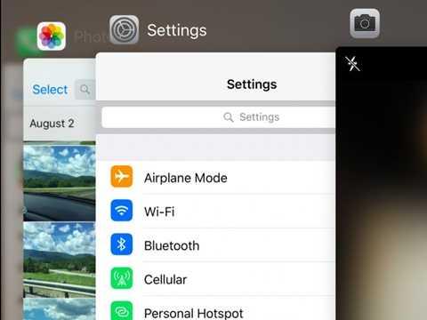 Và đây, điểm đẹp nhất trong iOS 9 mới - chuyển ứng dụng nhanh chóng và đẹp mắt hơn hẳn - giống như di chuyển những lá bài vậy