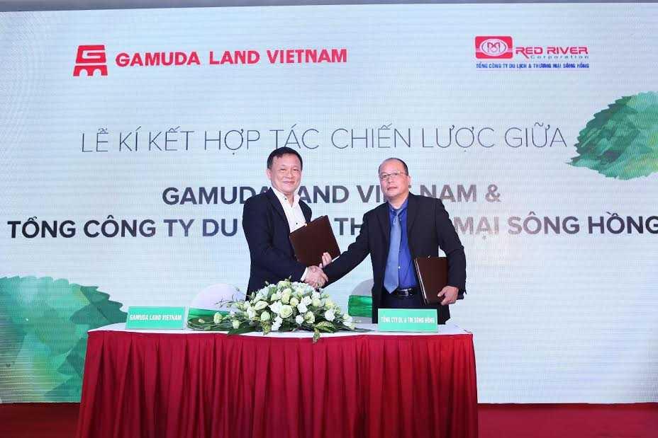 Đại diện Chủ đầu tư Gamuda Land Việt Nam & Tổng Công ty DL & TM Sông Hồng ký kết thỏa thuận hợp tác