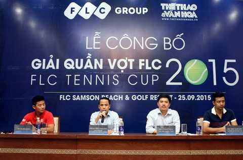 Đại diện Tập đoàn FLC và Báo Thể thao & Văn hóa công bố Giải quần vợt FLC 2015 – FLC Tennis Cup 2015