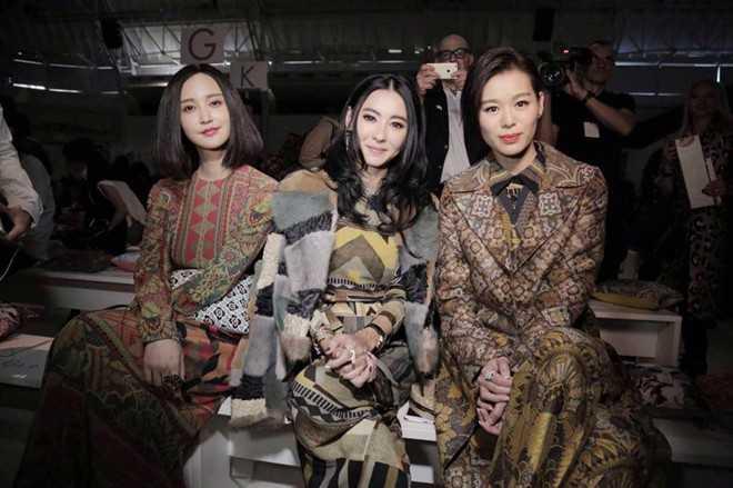 Trương Hâm Nghệ, Trương Bá Chi và Hồ Hạnh Nhi trước ống kính.