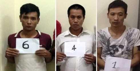 Nhóm đối tượng bị khởi tố về tội danh Gây rối trật tự công cộng