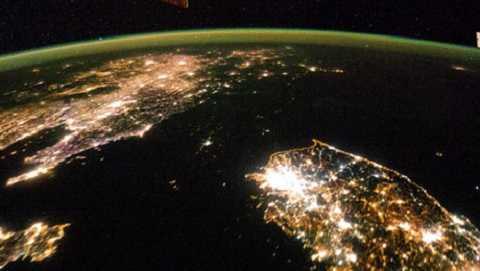 Triều Tiên tối om khi nhìn từ ISS