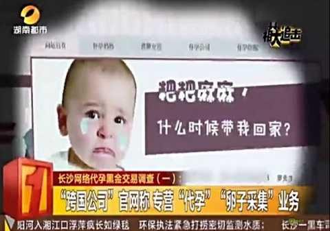 Hình ảnh quảng cáo về dịch vụ mang thai hộ