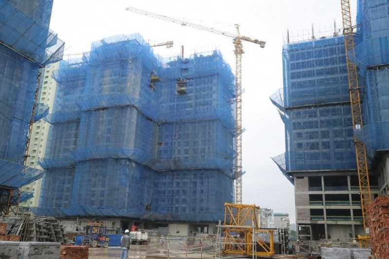 Hiện tòa Ruby 3 đã xây dựng đến tầng 24.
