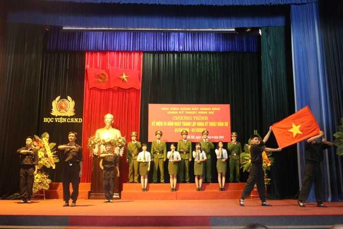 Nhiều tiết mục văn nghệ đặc sắc do các học viên Học viện Cảnh sát thể hiện