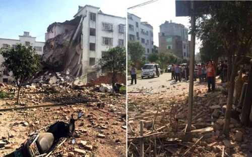 Khung cảnh tan hoang ở Liễu Thành, Quảng Tây, nơi xảy ra hàng loạt vụ nổ