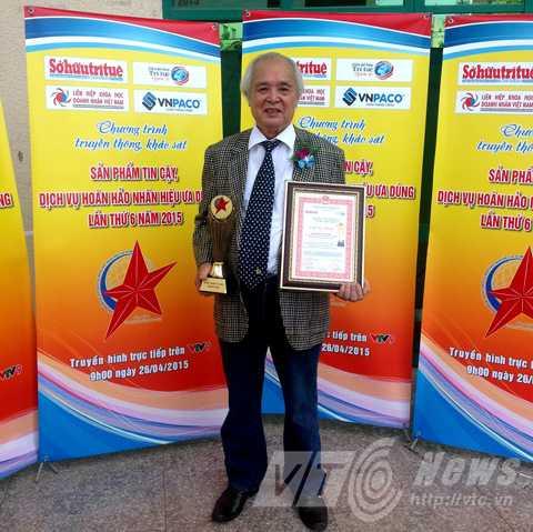 Hầu hết các sản của ông Khánh đều đạt huy chương vàng khi tham gia các cuộc thi sáng chế, hội chợ
