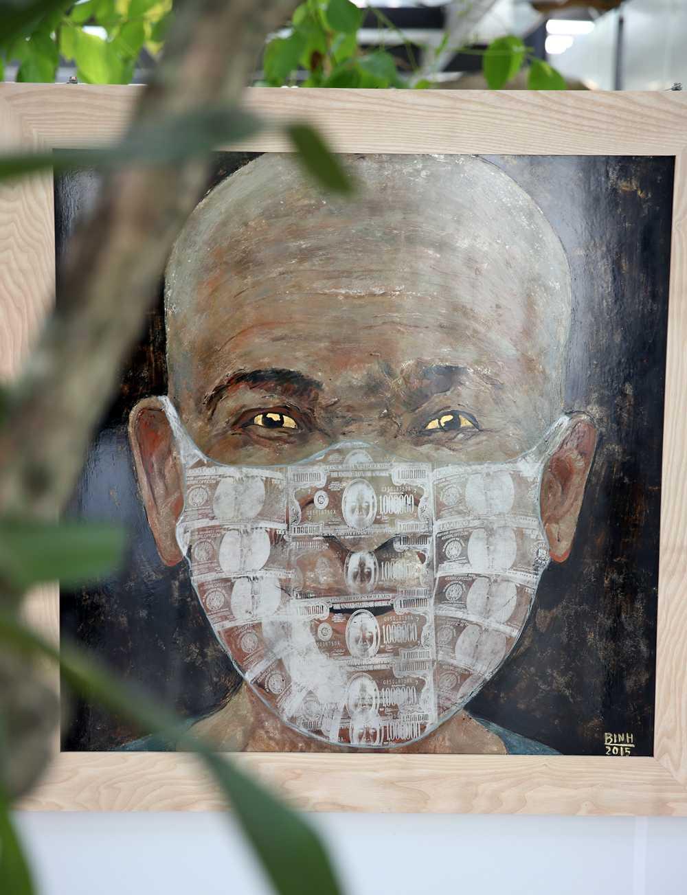 Một bức tranh trưng bày tại Viet Art Space (Ảnh: Phạm Thành)