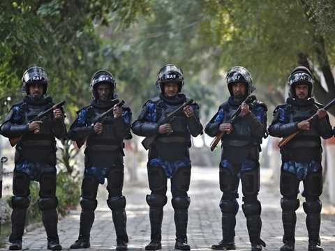 Lực lượng hành động nhanh Ấn Độ trong căn cứ quân sự ở New Delhi tháng 11/2014