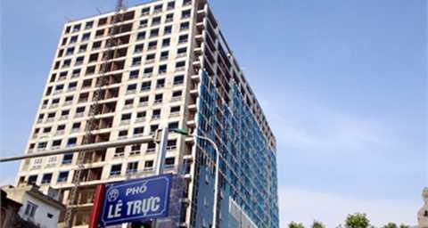 Giá bán căn hộ 8B Lê Trực được tính toán nhằm nộp tiền sử dụng đất là 26,5 triệu đồng/m2.