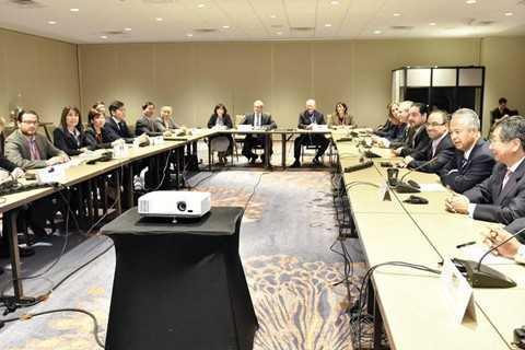 Buổi họp báo công bố kết quả cuộc đàm phán TPP đã bị hoãn lại ở phút chót