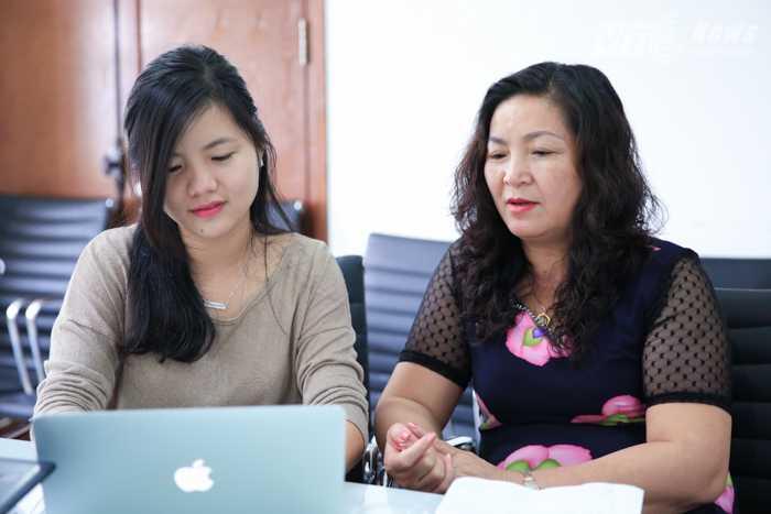 Thạc sỹ Nguyễn Thị Tuyết trong buổi giao lưu. (Ảnh: Đinh Đức Tùng)