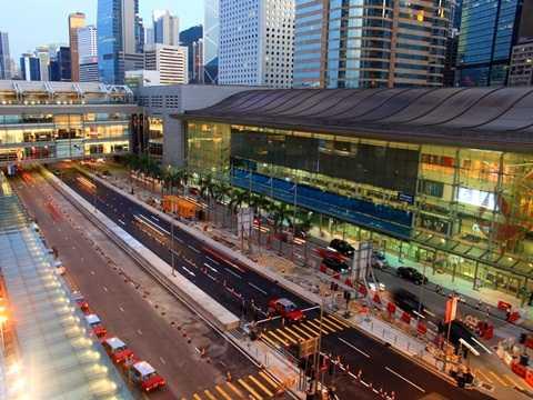 Ga tàu điện ở Hồng Kông
