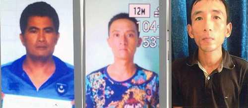 Các đối tượng Nguyễn Quốc Bình, Phạm Văn Trung, Lê Nguyên Khương