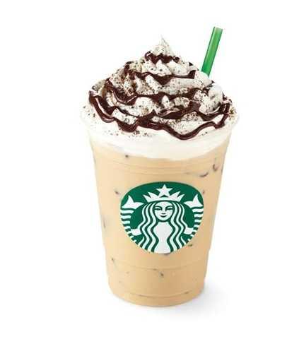 Starbucks® French Vanilla Latte được pha chế bằng sữa nóng và sốt French Vanilla béo