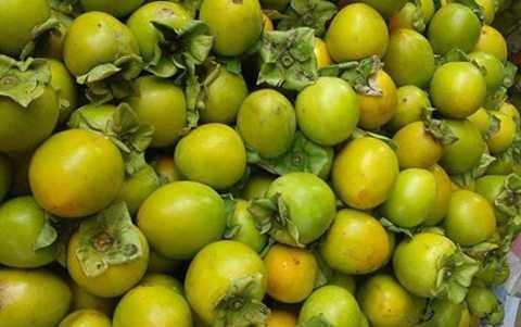 Giá bán hồng giòn, hồng trứng Đà Lạt tại Hà Nội có lúc đã lên tới 55.000 đồng/kg, cao gấp hơn 20 lần. (Ảnh: KT)