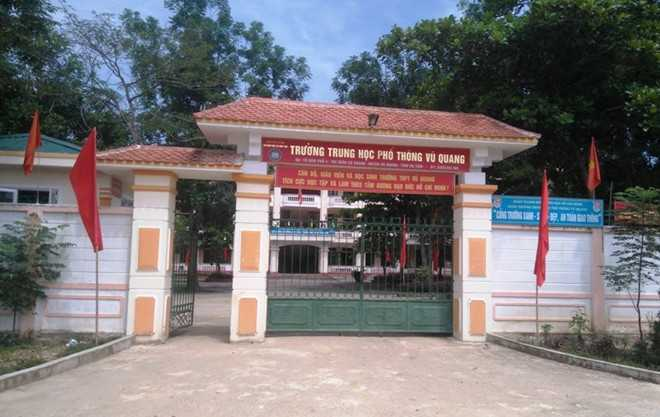 THPT Vũ Quang nơi xảy ra vụ việc