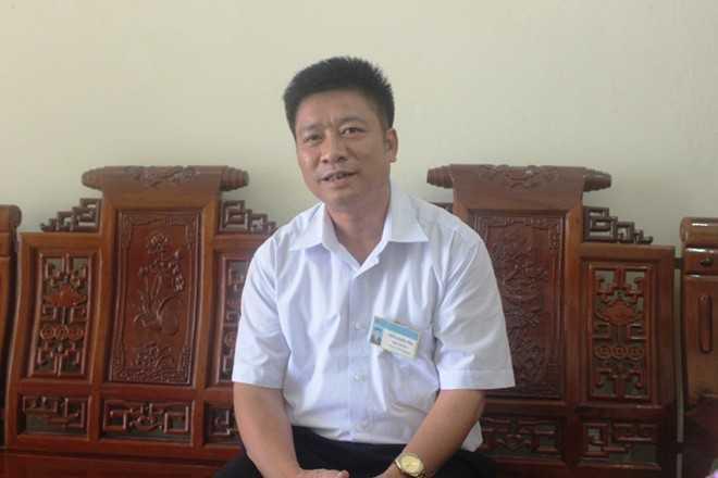 Thầy Trần Xuân Yên, Hiệu trưởng trường THPT Vũ Quang nói về sự việc.