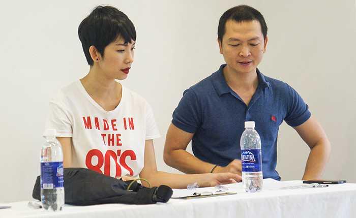Đồng hành cùng Xuân Lan trong buổi tuyển chọn còn có nhà tạo mẫu tóc Hoàng Minh Tâm, một trong những chuyên gia hàng đầu trong ngành tạo mẫu tóc.