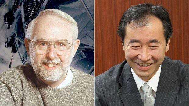 Nhà khoa học Arthur B. McDonald làm việc ở Đại học Queen và ông Takaaki Kajita đang làm việc tại Đại học Tokyo. Ảnh: Guardian