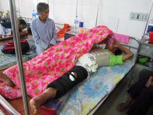 Ông Lê Quang Trung bị gãy xương bánh chè, tinh thần chưa ổn định và rất đau đớn