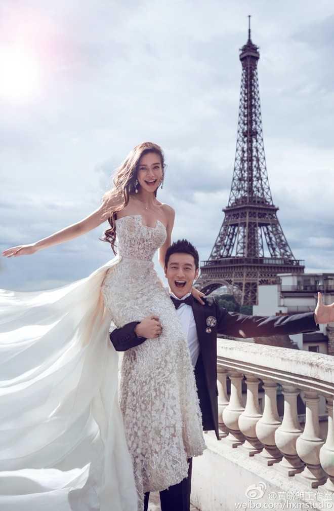 19h ngày 8/10, lễ cưới của Huỳnh Hiểu Minh và Angelababy sẽ diễn ra tại   Thượng Hải. 8h sáng nay, cặp đôi bất ngờ chia sẻ ảnh cưới với người hâm   mộ qua blog cá nhân.