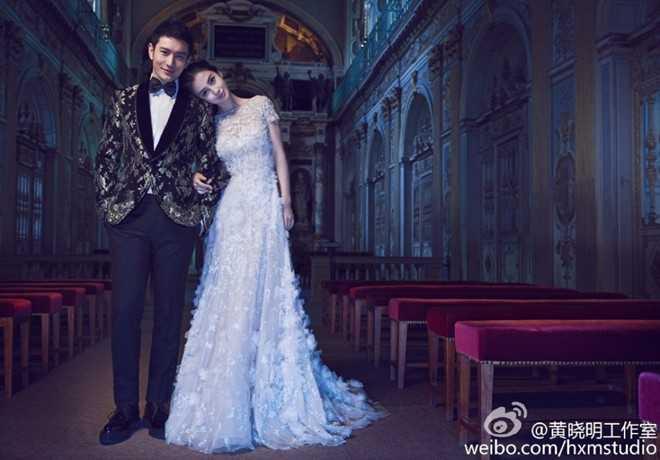 Tổ chức rình rang với 2.000 khách mời, đám cưới của Huỳnh Hiểu Minh và   Angelababy cũng là một trong những đám cưới hoành tráng và đắt giá nhất   của làng giải trí Trung Quốc.