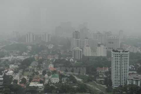 Khói bụi bao phủ thủ đô Kuala Lumpur của Malaysia. (Nguồn: AFP/TTXVN)