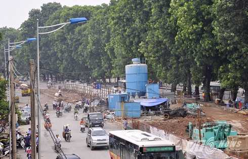Sau khi hoàn thành, cây cầu sẽ dẫn từ Bưởi về đường Láng