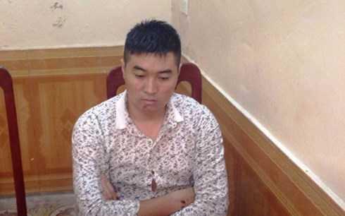Thạch Tiên Hoa tại cơ quan điều tra.