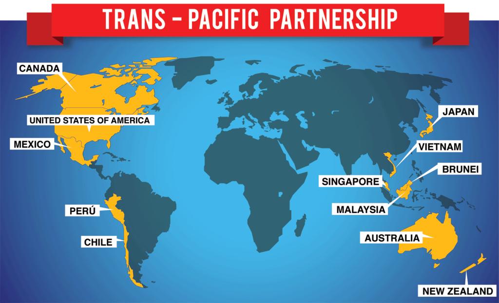 TPP không có mặt của Trung Quốc hay bất kỳ quốc gia nào trong khu vực EU