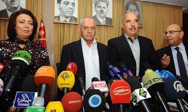 Các thành viên đại diện Bộ tứ Đối thoại quốc gia Tunisia