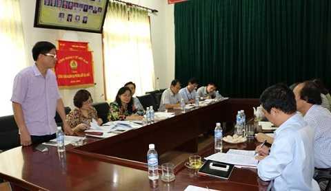 Cục trưởng cục An toàn thực phẩm Nguyễn Thanh Phong kiểm tra công tác an toàn thực phẩm tại Hà Tĩnh.