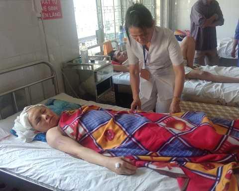 Chị Hạnh đang được điều trị tại bệnh viện