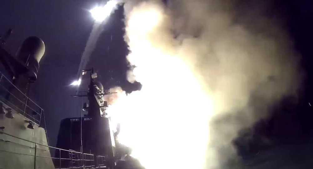 Tên lửa hành trình phóng đi từ chiến hạm Nga