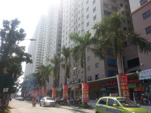 Nhiều tòa nhà tại dự án Đại Thanh, Thanh Trì xây dựng sai phép hàng chục tầng. Ảnh: Infonet