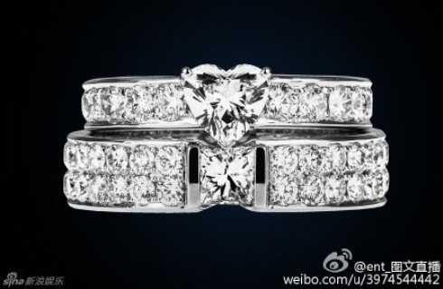 Hai chiếc nhẫn cưới sẽ được cặp đôi trao nhau tối nay.