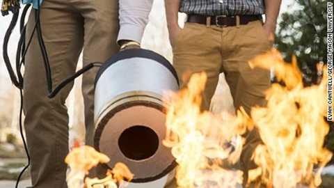 Âm thanh có thể đươc dùng để làm bình cứu hỏa