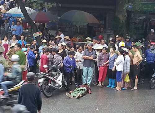 Hiện trường vụ án mạng - Ảnh Tin tức Quảng Ninh