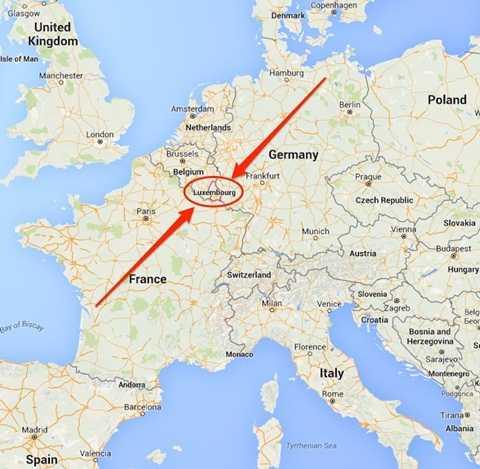 Luxembourg nằm ở vị trí trung tâm, dễ dàng di chuyển đến các quốc gia trong khu vực