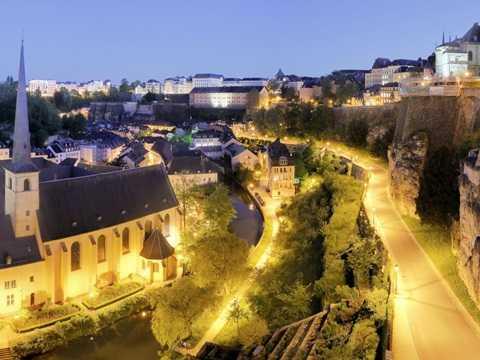 Thủ đô Luxembourg về đêm
