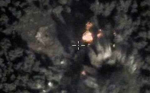 Máy bay Nga không kích một mục tiêu của IS tại Syria
