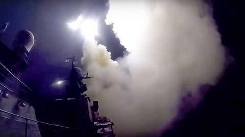 Nga không kích IS bằng tên lửa hành trình phóng từ tàu chiến của Nga ở biển Caspian