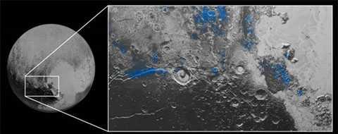 Hình ảnh trên sao Diêm Vương được NASA công bố.