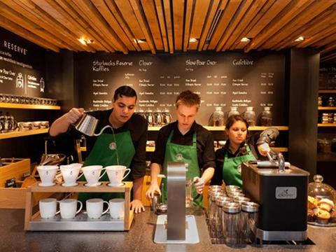 Starbucks rất phổ biến trên 65 quốc gia hiện nay