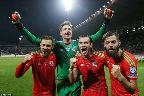 Xứ Wales lần đầu góp mặt ở vòng chung kết Euro