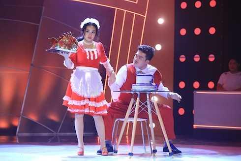 Anh Khoa và Ốc Thanh Vân biểu diễn All we got. Cặp đôi có tổng điểm 8,3.