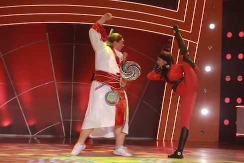 Anh Kiệt và Kim Phụng biểu diễn Matsuri. Cặp đôi có tổng điểm 9.